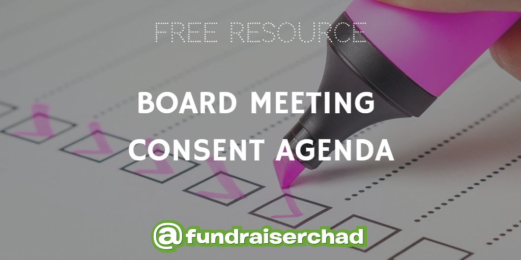 free resource board meeting consent agenda