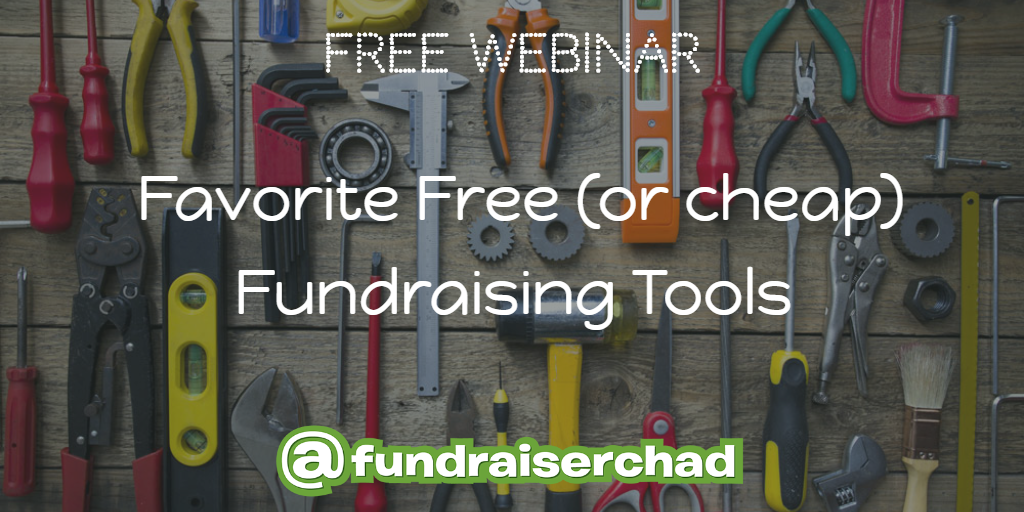 Free or Cheap Fundraising Tools