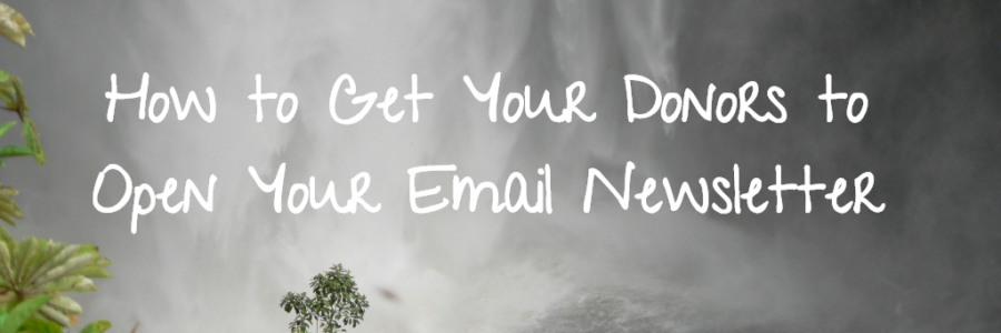 How to Get Your Donors to Open Your Email Newsletter