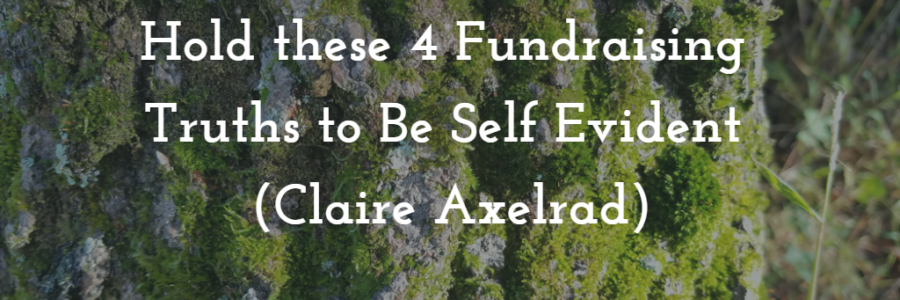 Hold these 4 Fundraising Truths to Be Self Evident (Claire Axelrad / Bloomerang)